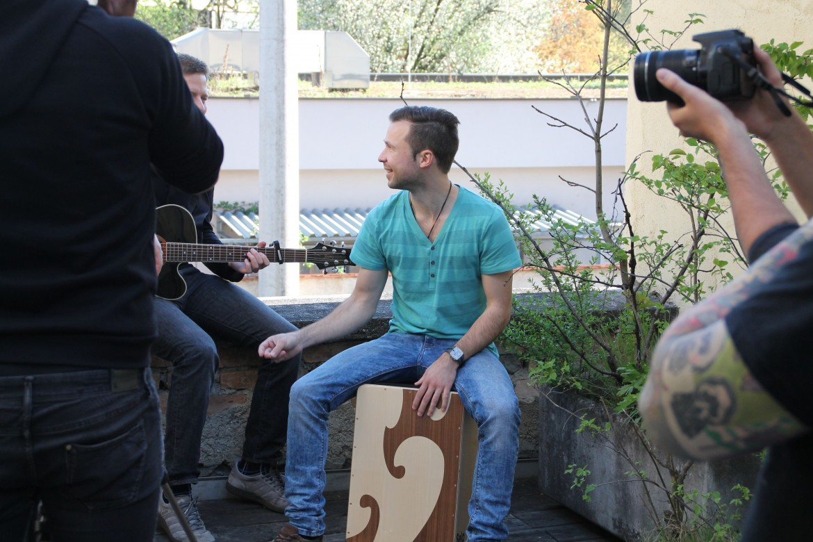 Video-Shooting mit Da Myc & Band